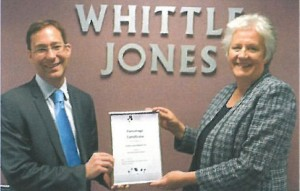Richard Suart, Regional Property Manager at Whittle Jones and Margaret Corneby, Chief Executive of Black Country Chamber of Commerce