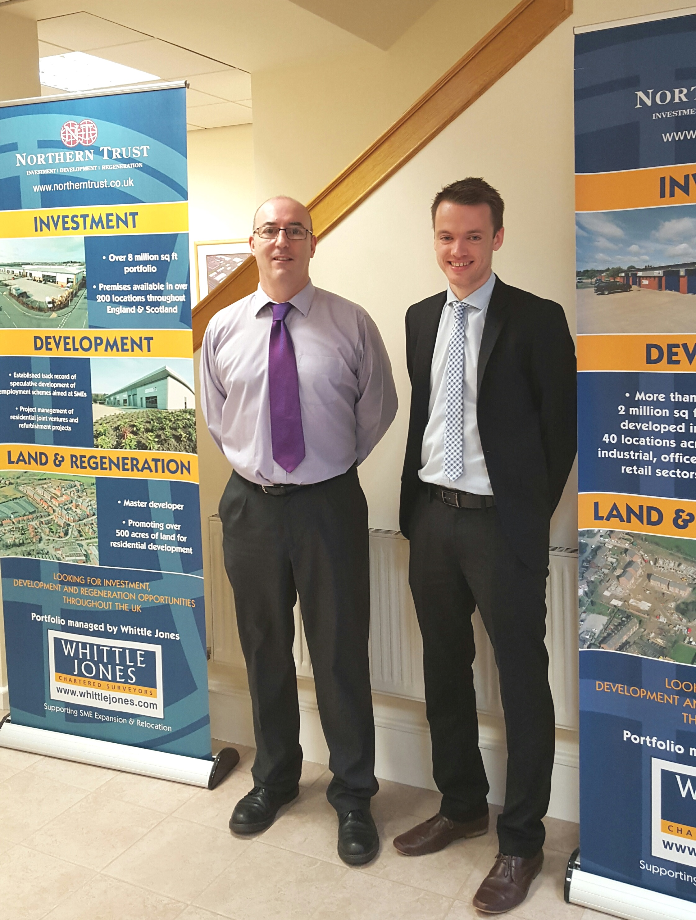 From left to right: Sean Kelly, Maintenance / Building Surveyor and Phil Hume, Lettings / Management Surveyor